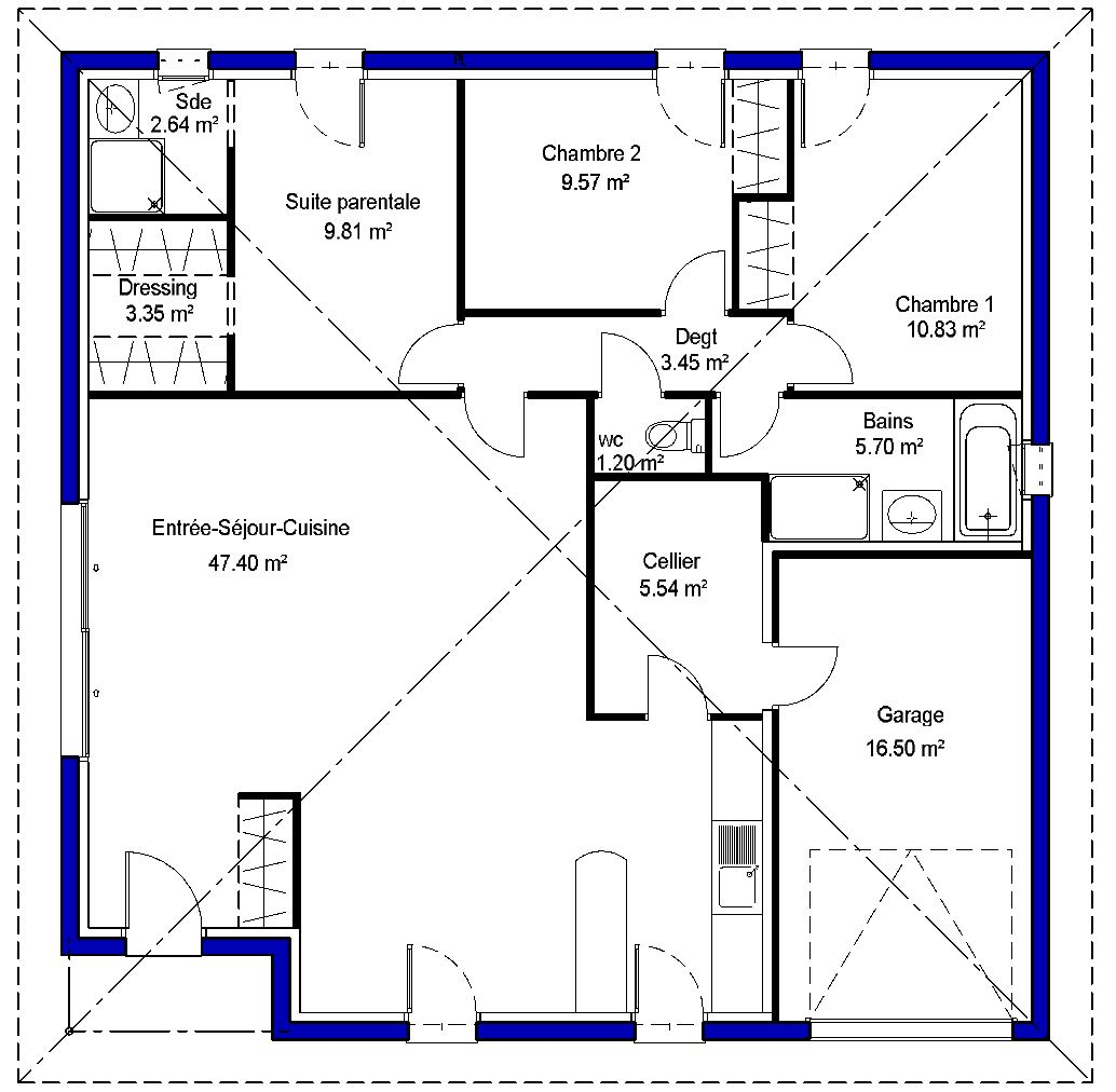 adela contemporaine maisons lara. Black Bedroom Furniture Sets. Home Design Ideas