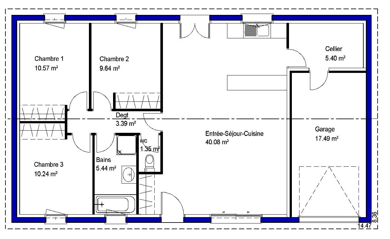 Pamela contemporaine maisons lara for Plan maison simple