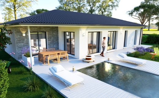 Modele Eole Maison A Toit Plat Avec Terrasse 15