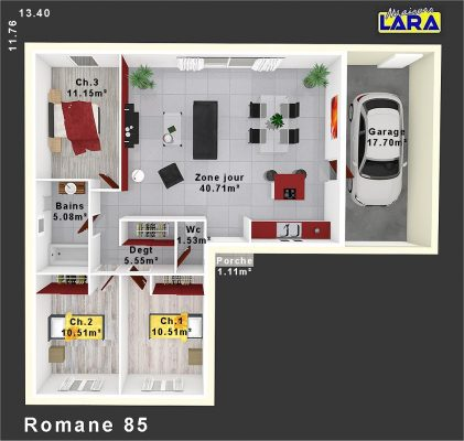 PLAN ROMANE 85