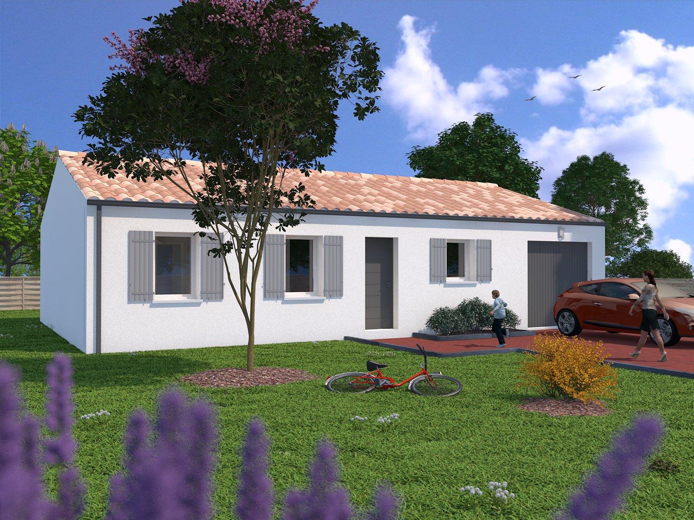 Salles sur mer maison 3 chambres sur terrain de 339 m2 ref for Maison sur terrain rectangulaire