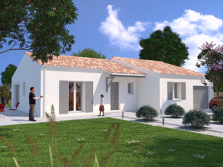 Terrain 342m maison de 90m royan fs maisons lara for Terrain maison