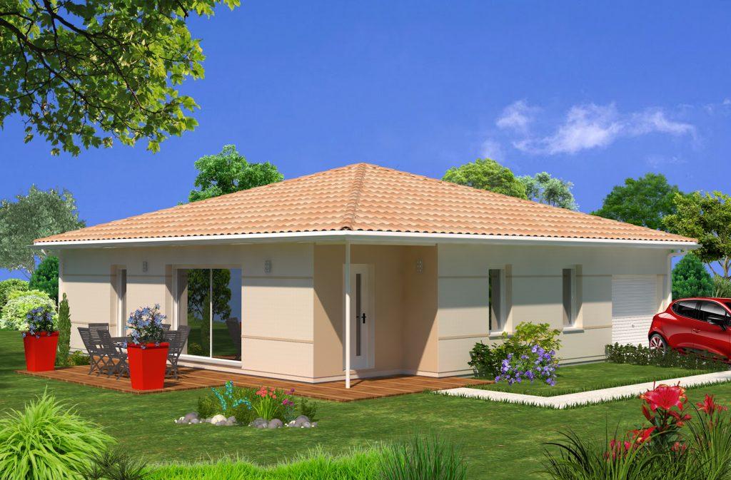 Belin beliet 490m modele adela 80m maisons lara for Modele maison 6 chambres