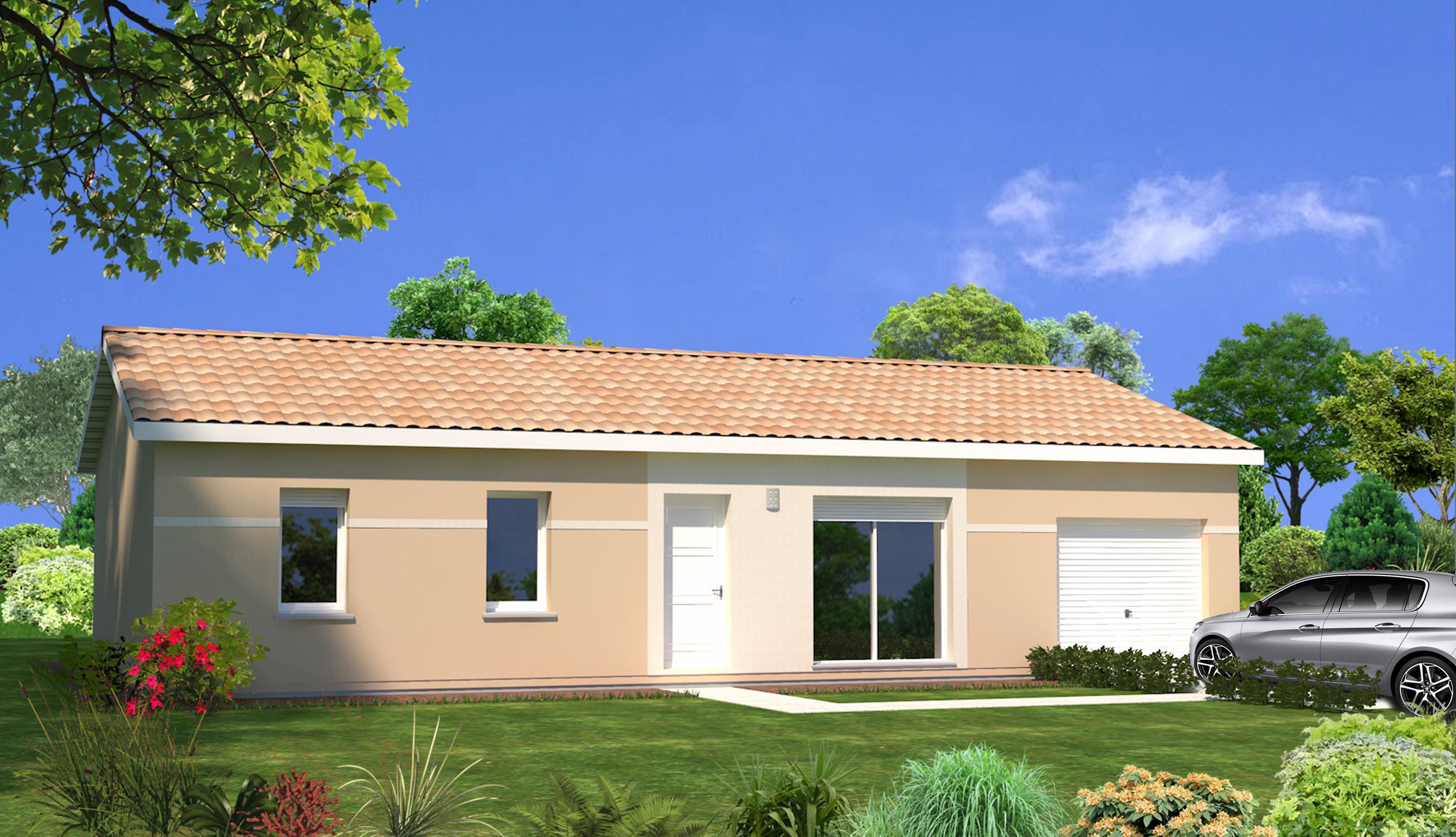 A galgon maison 85m terrain 684 m maisons lara for Maison aquitaine prix