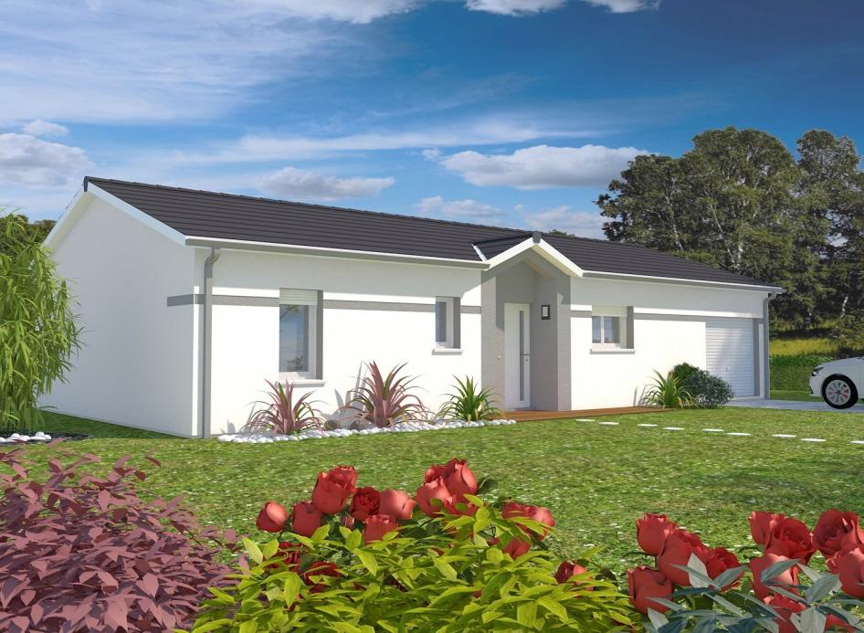 St medard en jalles terrain de 930m mod le aline 102m for Modele maison 4 chambres garage