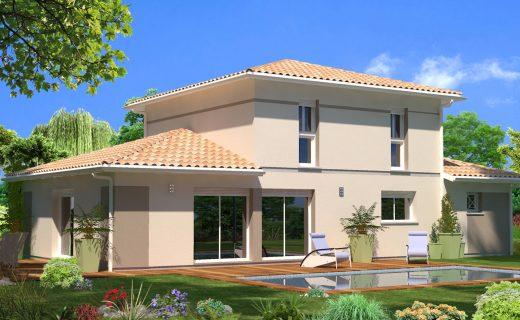 Plan maison plain pied 50m2 idee plan maison etage for Modele villa basse moderne