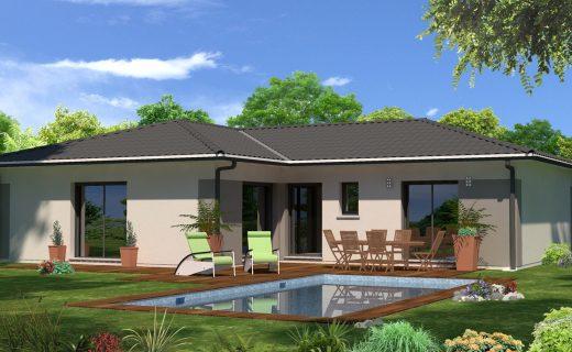 Modele Maison Plain Pied Deco Interieure ~ Des Idées Novatrices sur ...