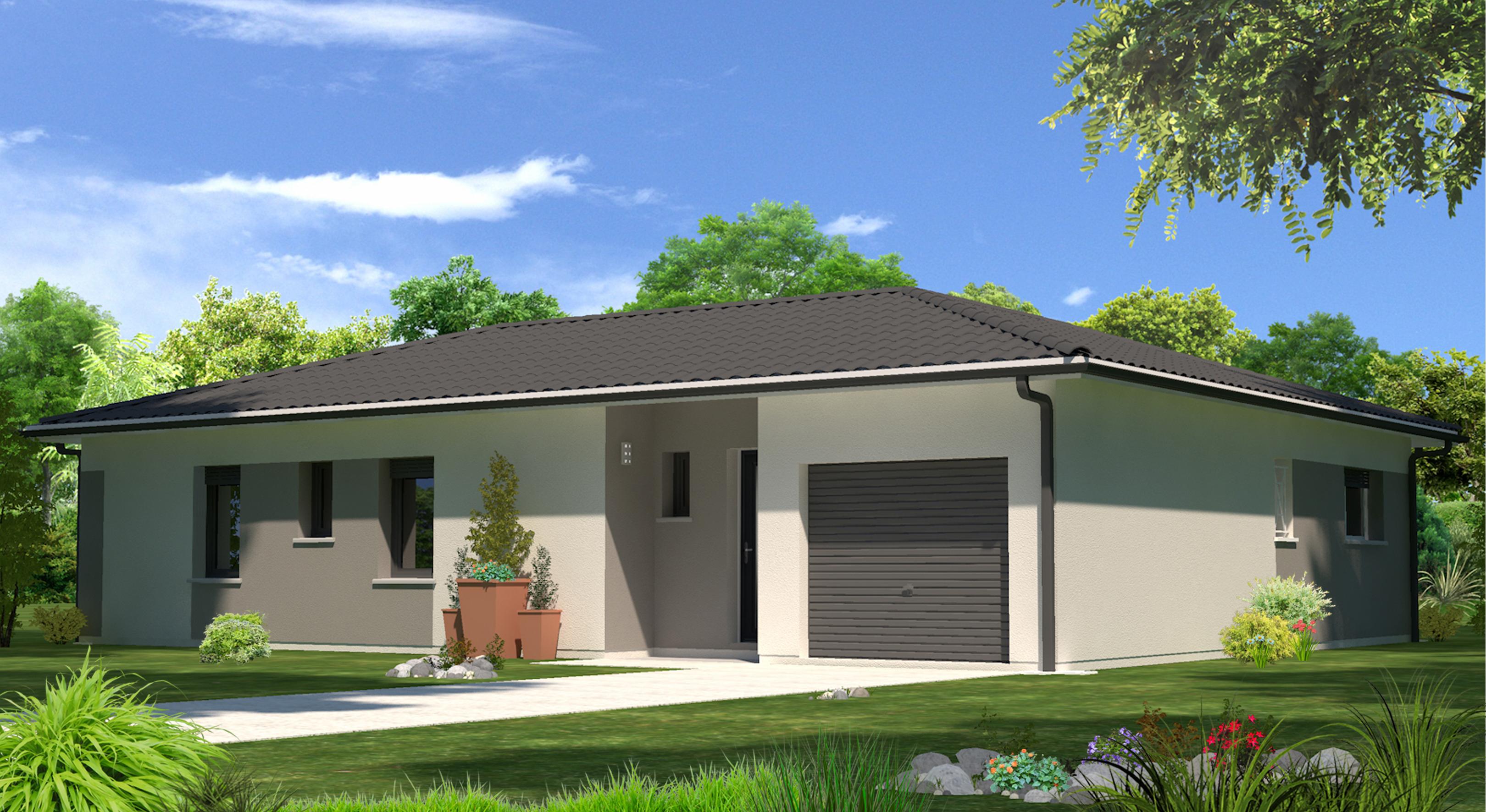 Amanda contemporaine maisons lara for Terrain construction maison