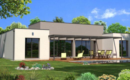 Plan de maison plain pied 120m2 plan maison meubl maison for Construire une maison 120m2