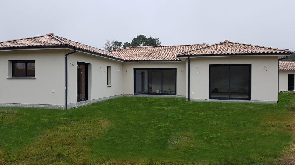 Maison en U type patio au sud bassin d'Arcachon commune de ... - Maison En U