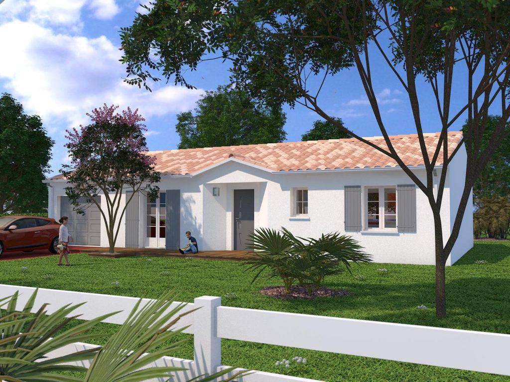 Bourgneuf maison 90 m2 habitables sur terrain de 596 m2 for Prix fondation maison m2