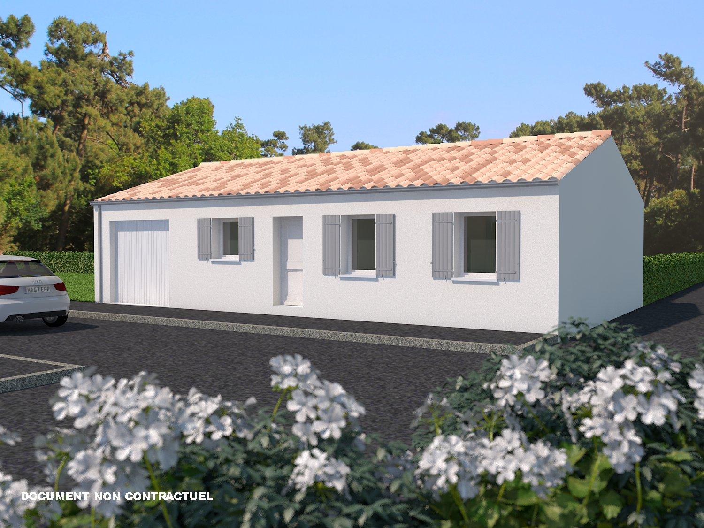 Thaire d 39 aunis maison 84 m2 habitables sur terrain 474 m2 for Maison sur terrain rectangulaire