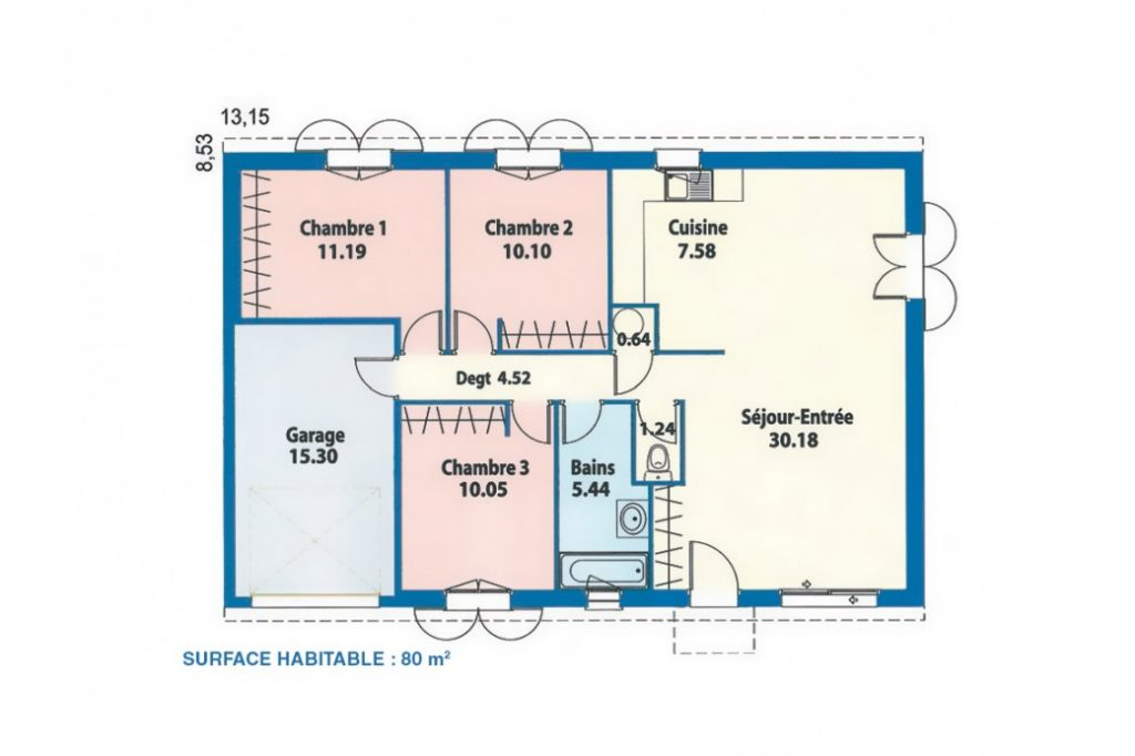 Fuschia maisons lara for Construction maison 80 m2