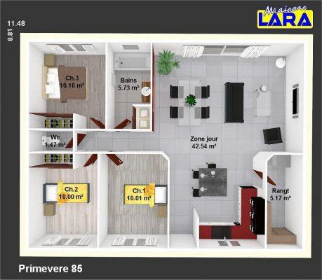 plan maison individuelle primevere 85