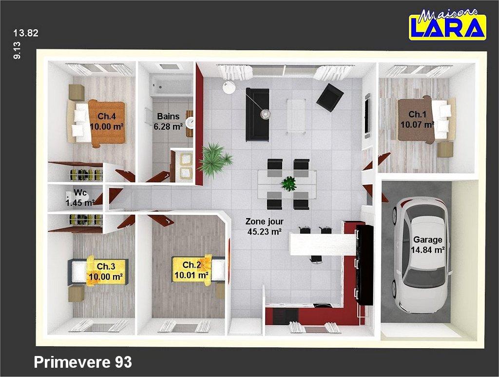 Plan maison individuelle primevere 93