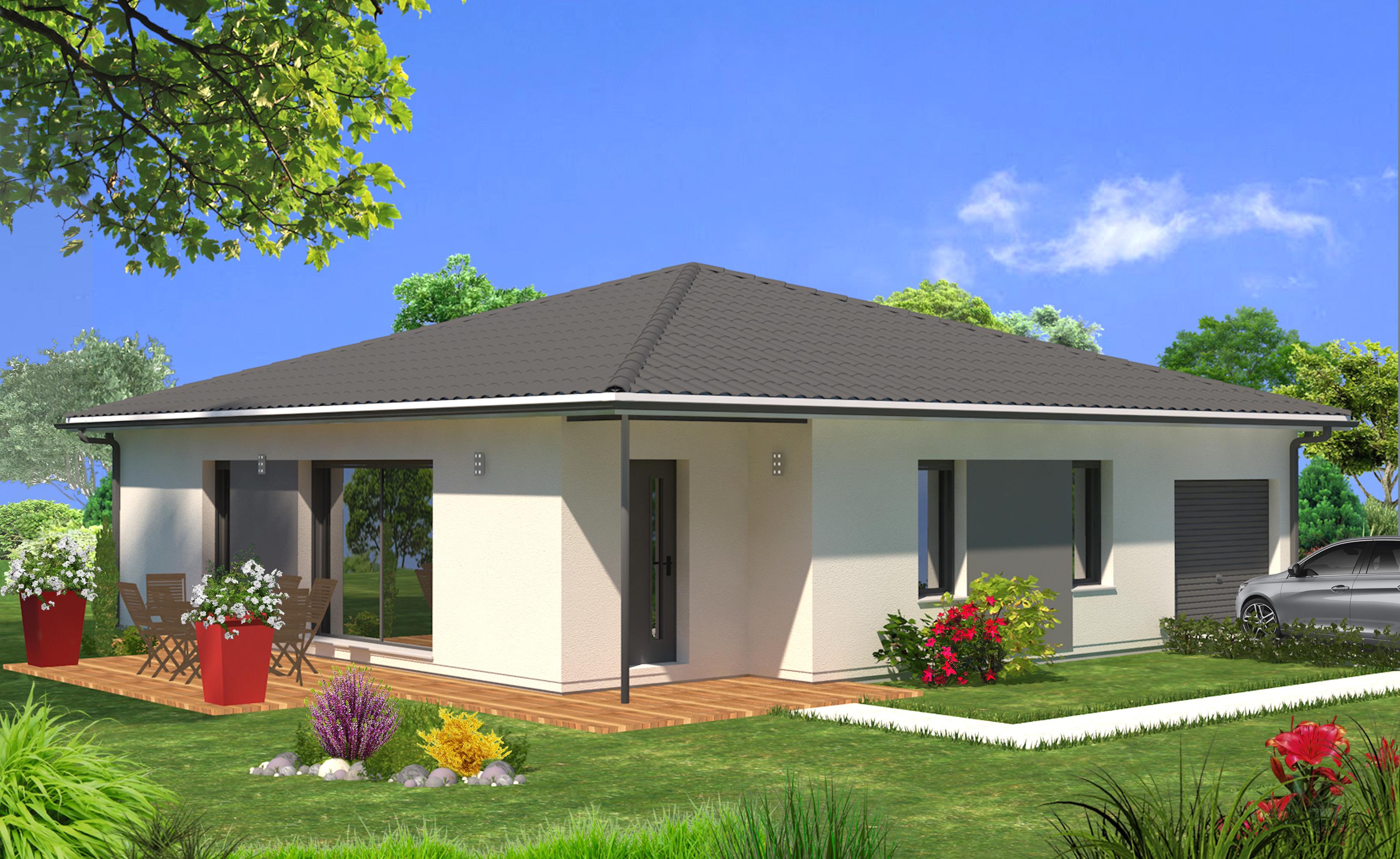 Terrain 450 m pujols ciron adela 90 m maisons lara for Modele maison 3 chambres